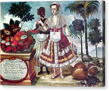 Fruits Of Peru, 1783 Canvas Print by Granger