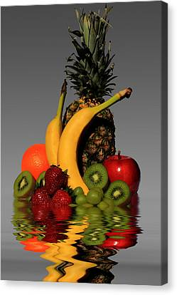 Fruity Reflections - Medium Canvas Print by Shane Bechler
