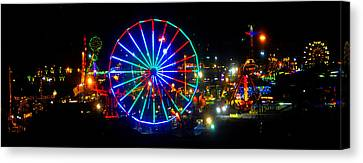 Florida State Fair Pano Work E Canvas Print by David Lee Thompson