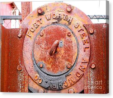 Ft Worth Steel Canvas Print by Angela Wright