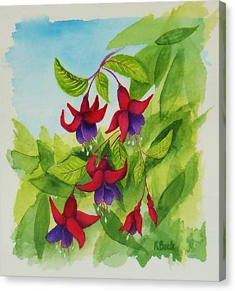 Fuchsias Canvas Print by Katherine Young-Beck
