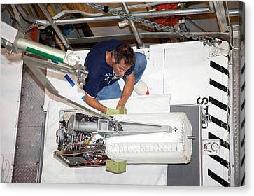 Fuel Cell From Space Shuttle Discovery Canvas Print by Frankie Martin/nasa