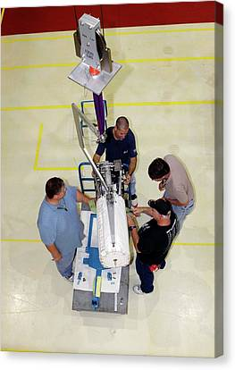 Fuel Cell From Space Shuttle Endeavour Canvas Print by Glenn Benson/nasa