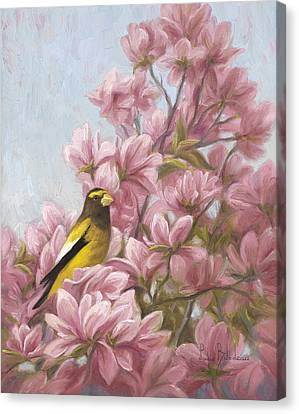 Full-bloom Canvas Print by Lucie Bilodeau