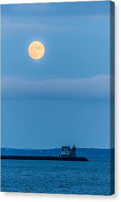Full Cold Moon Canvas Print by Tim Sullivan