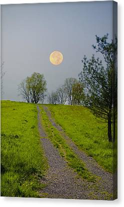 Full Moon On The Rise Canvas Print by Bill Cannon