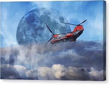 Full Moon Rescue Canvas Print by Betsy C Knapp