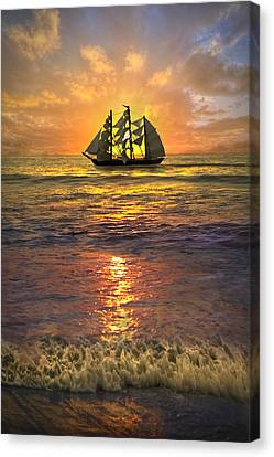 Full Sail Canvas Print by Debra and Dave Vanderlaan