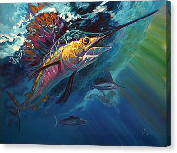 Full Sail Canvas Print by Savlen Art