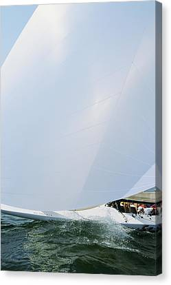 Full Spinnaker - Lake Geneva Wisconsin Canvas Print by Bruce Thompson