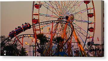 Fun At The Fair Canvas Print by David Lee Thompson