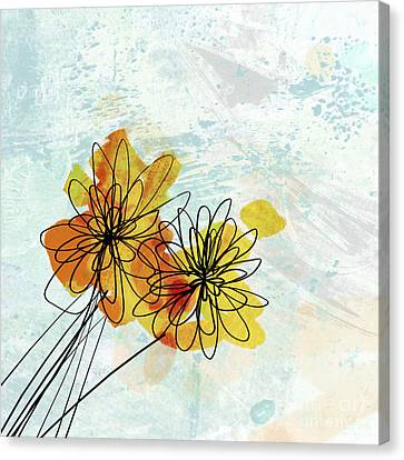 Fun Flowers  Canvas Print by Ann Powell