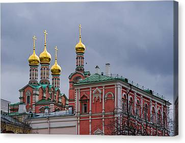 Fun Palace Of Moscow Kremlin Canvas Print by Alexander Senin