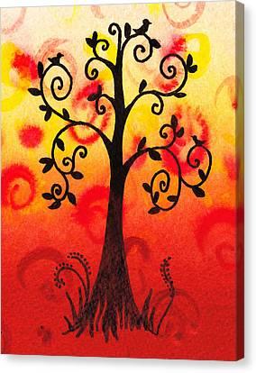 Fun Tree Of Life Impression IIi Canvas Print by Irina Sztukowski