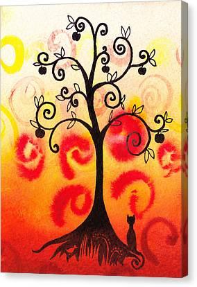 Fun Tree Of Life Impression Iv Canvas Print by Irina Sztukowski