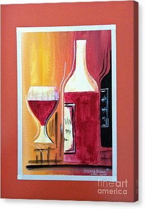 Fun Wine Time Canvas Print by Brenda Brown