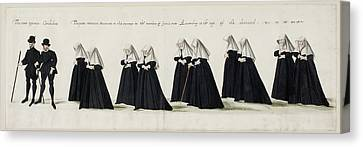 Funeral Procession Of Anne Of Cleves Canvas Print by British Library