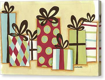 Funky Christmas I Canvas Print by Anne Tavoletti