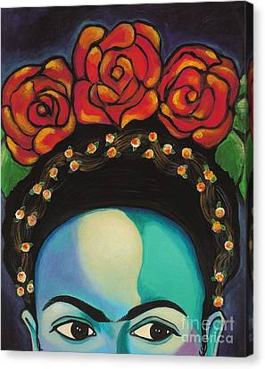 Funky Frida Canvas Print by Carla Bank
