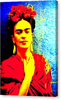 Funky Frida IIi Canvas Print by Michelle Dallocchio