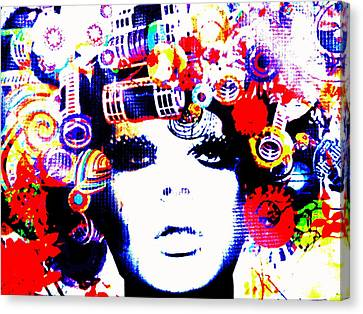 Funky Hair In Bali Canvas Print by Funkpix Photo Hunter