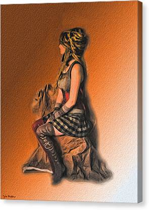Funky Punky Canvas Print by Tyler Robbins