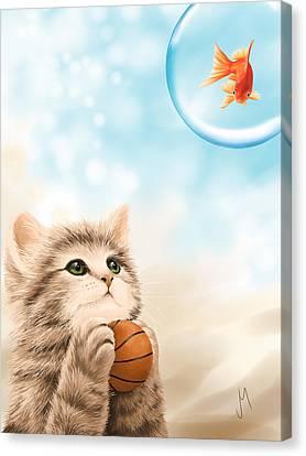 Funny Games Canvas Print by Veronica Minozzi