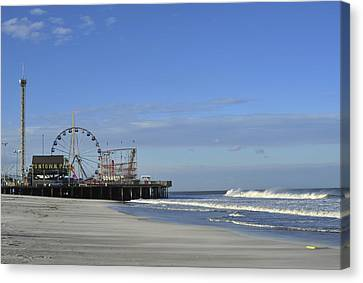 Funtown Pier Seaside Heights Nj Jersey Shore Canvas Print by Terry DeLuco