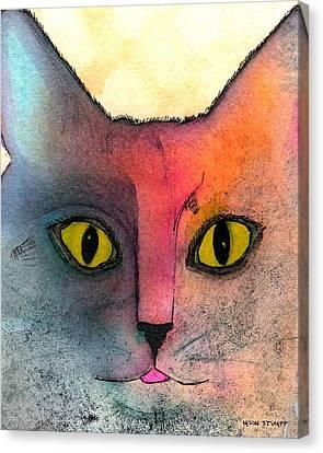 Fur Friends Series - Abby Canvas Print by Moon Stumpp