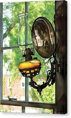 Furniture - Lamp - An Oil Lantern Canvas Print by Mike Savad