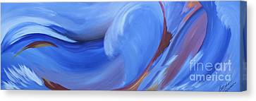 Fury Of The Sea Canvas Print by Barbara Petersen
