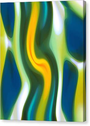 Abstract Tide 4 Canvas Print by Amy Vangsgard