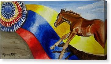Future Champions I  Canvas Print by Kathleen  Reiman