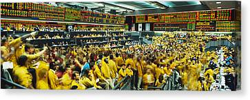 Futures And Options Traders Chicago Canvas Print by Panoramic Images
