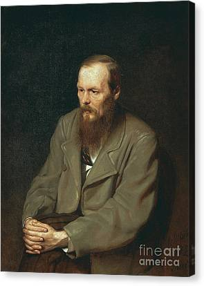Fyodor Dostoyevsky Russian Author Canvas Print by Photo Researchers