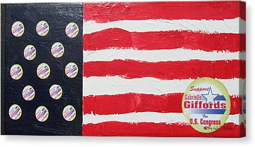 Gabrielle Giffords Stars Canvas Print by Jay Kyle Petersen