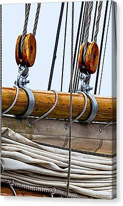 Gaff And Mainsail Canvas Print by Marty Saccone