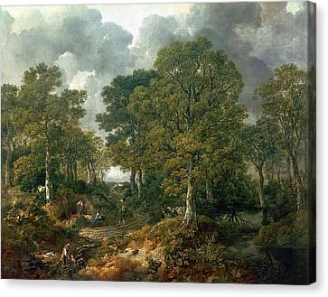 Gainsboroughs Forest Cornard Wood, C.1748 Oil On Canvas Canvas Print by Thomas Gainsborough