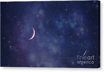 Galactic Show Canvas Print by Rima Biswas