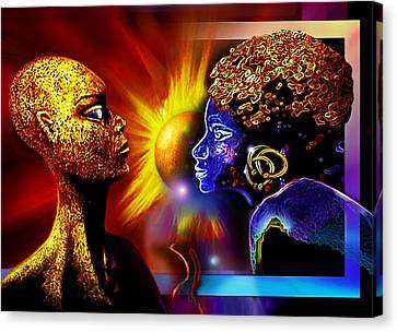 Galactic  Sisters Canvas Print by Hartmut Jager