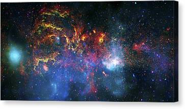 Galactic Storm Canvas Print by The  Vault - Jennifer Rondinelli Reilly