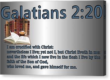Galatians 2 20 Canvas Print by Ricky Jarnagin