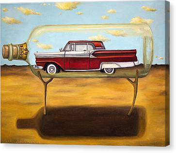 Galaxie In A Bottle Canvas Print by Leah Saulnier The Painting Maniac