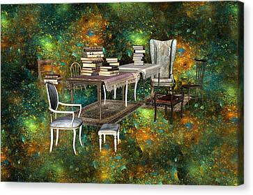 Galaxy Booking Canvas Print by Betsy Knapp