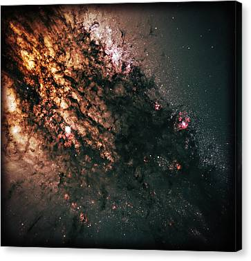 Galaxy Centaurus A Canvas Print by The  Vault - Jennifer Rondinelli Reilly