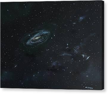 Galaxy Canvas Print by Ken Ahlering