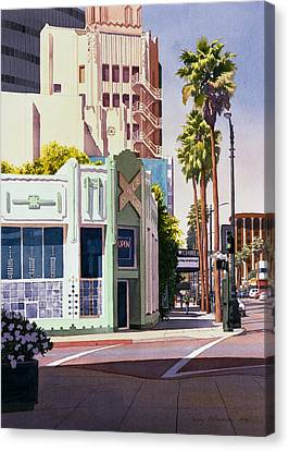 Gale Cafe On Wilshire Blvd Los Angeles Canvas Print by Mary Helmreich