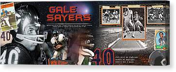Gale Sayers Panoramic Canvas Print by Retro Images Archive