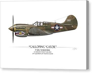 Galloping Gator P-40k Warhawk Canvas Print by Craig Tinder