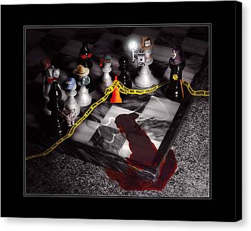 Game - Chess - It's Only A Game Canvas Print by Mike Savad